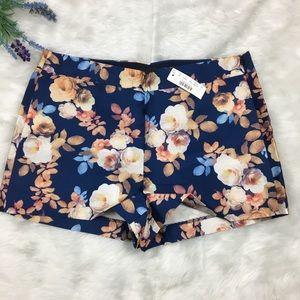 NWT J. Crew Antique Floral Silk Shorts size 6
